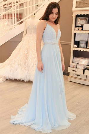 Light Blue Formal Prom Dresses & Bridesmaid Gowns - Xdressy