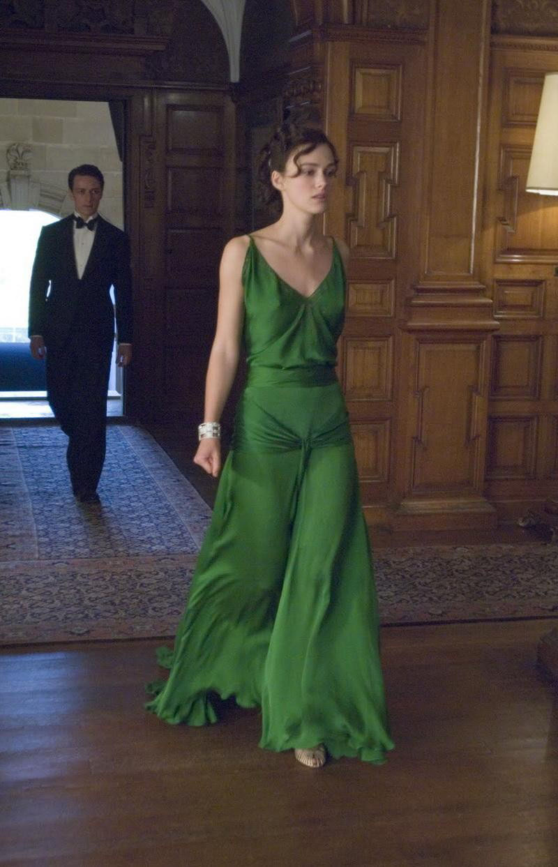 Keira Knightley Green Evening Dress in
