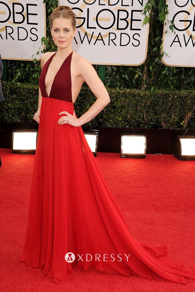 Details about  /Amy Adams Red Dress Mini Size Cutout